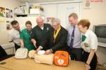 Club Photo Gallery pre July 2015 - Arbroath's first Automatic External Defibrillator (AED) was installed at Morrisons in November 2014