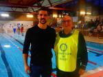 Purley Swimathon - 2016 - Our 'Saver' Julian Speroni with our 'Organiser' Tony Farrell