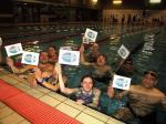 Purley Swimathon - 2016 - SECHC Team with their very worthy chosen charity flags.