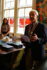 Young Artist of the Year Competition  - Holderness Rotary President Dr Dave Sewell announces the results