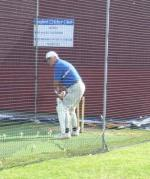 Annual Cricket Match - Tony Reynolds in the practice nets