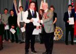 Young Musician of the Year 2015 and Festival of Youth Music Competitions 2015 - Sam with District Governor Alistair Marquis