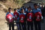 Charitable Donations  - Pupils in Nepal with their Bags