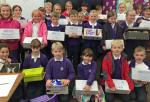 Rotary Shoebox Appeal - Proud children with their boxes.