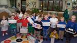Rotary Shoeboxes 2018 - The nursery classes from Newton Primary School, Dunblane, with their collection of Rotary shoeboxes