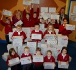 International Projects - Children filling Shoeboxes