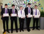 Rotary Shoeboxes 2018 - Year five and six students from Wallace High School who organised the shoebox collection in the School