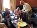 Rotary Links across the world with Matching Grant - Rotarians enjoying a small repast