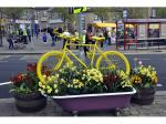 Tour de Yorkshire 2017 - Yellow bike and flower dislay
