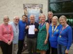 Thame Swimathon 2014 - with Deputy Mayor, Linda Emery and Marius Ciortan