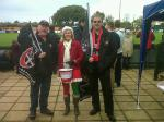 Christmas Appeal Tin Shake at the Rugby Club - capture our elf. Yvonne seems to be enjoying it.