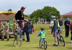 Medieval Fair - And a cyclist of a different sort.