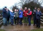 Club Walk - Enjoying the traditional sloe gin tipple, provided by, and carried all the way, by Rtn John Allen