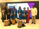 Rotary and The Commonwealth - Tree Planting and Drumming for Peace - Chenda Drummers are ready for their Morning Welcome performance for Delegates attending the Commonwealth Heads of Government Forums on Tuesday 17th April 2018