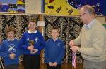 Young Musician Competition - Winners Andrew and Abigail with District Governor and judge