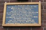Visit to Horwich - Plaque on the wall of the Transmitter station in its new frame!