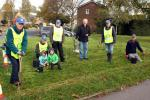 The Big Crocus Plant 2017 is underway! - 5,000 crocus corms were planted by Witney Rotarians and helpers by the Welch Way roundabout