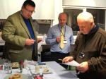 2015 Rotary Young Chef Competition - The Judges (from Brockwood, McClures and Millom Rotary) make their joint decision.