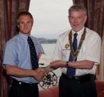 Archive Pictures 2012-2013 - James Hoare of Torbay Lifeboat receiving a cheque for £400