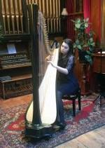 Neston Charter Afternoon tea - The wonderful sound of the Harp from the very talented Angharad Huw