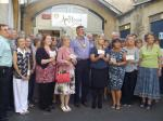 Donations to Charity 2014 - Members of Melksham Rotary with 17 deserving charity representatives