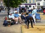 Boules in the Square 2019 - Conclusive proof that two balls are twice as heavy as one.