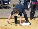 Boules in the Square 2019 - Bugger! I think the Jack is under my right foot.