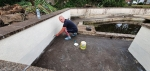 Ingleton House Pond Project  - June 2020 - chris painting 01