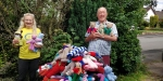 Teddy Bears for Buddy Bags Charity - Chris Smith of Whitchurch Rotary Club and Sylvia Keris