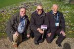 Polio Eradication - Rotarians Robin Martin and John Wilson join horticultural manager Anthony Boulding to view progress on the display