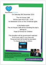 Christmas Lights switchon = Hope and Homes day - Poster