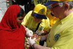 End Polio Now - was declared Polio Free by WHO in March 2014 after years of intensive National Immunisation programmes.