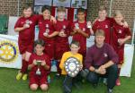 Another Fantastic Primary Schools Football Tournament! - The winning team, Cuffley with their trophies.