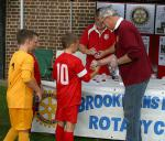 Another Fantastic Primary Schools Football Tournament! - Mike W presenting runners up trophies to the runners up, Oakmere