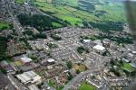 Views around Church and Oswaldtwistle -  Aerial wiew of Ossy town centre