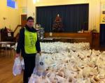 Newbury Weekly News Over 80's Parcel Distribution - in a sea of over 80's Xmas parcels
