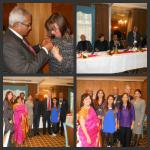 Christmas Lunch - December 2013 - The Club's Rotarians and wives with President Girish