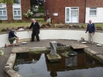 Ingleton House Pond Project  - June 2020 - paint trio 02