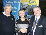 New Members  - Pam Allen inducted by president Roger Cutler and Roger Tisdall.