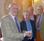 Helping to eradicate Polio - Handing over the cheque to Rotary District Foundation Chairman Stewart Atkin (left) are Hexham Rotary International Team Leader Bob Hull (second left) and Rotarians Norman Wicks and Brian Massey