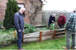 Rotary at work in the Community - Members built and installed a much needed new raised bed for the garden at Icknield School