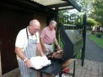 40 years of Rotary in Chatteris - rotarians getting agood grilling