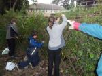 Oakworth Sensory Garden  - and tying in the hedge