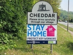 The Club erect Stay at Home signs - Sign in Cheddar