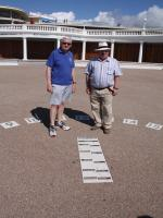 Rotarians of Bexhill unite to celebrate their new Sundial - sun dial1 23-8-12
