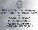 Rotarians of Bexhill unite to celebrate their new Sundial - sun dial5 23-8-12v2