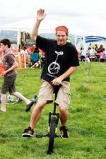 St Asaph country Fayre 2013 - unicycle1