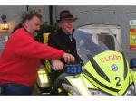 President's Evening - with a difference - Andrew on a blood bike getting instructions