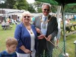 Our 'Hook a Duck' Lake - His Worship the Mayor of Stafford Cllr Peter Jones and the Lady Mayoress Mrs Joy Jones try their luck at 'Hook a Duck', which was being used to raise funds by the school for the Nepal Disaster Appeal
