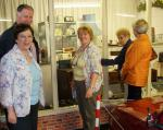 Handover evening 25th June, 2014 - President Sylvia with members and guests enjoying a browse around the Bubble Car Museum.
